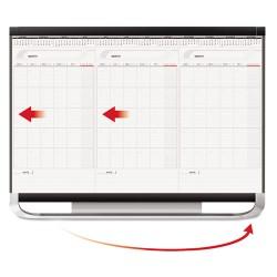 Acco Brands - CCP32P2 - Prestige 2 Total Erase 3-Month Calendar, 36 x 24, White, Graphite Frame