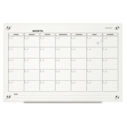 Acco Brands - GC3624F - Infinity Magnetic Glass Calendar Board, 36 x 24