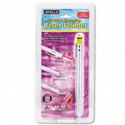 Acco Brands - MP-2800Q - Quartet 4-Function Executive Laser Pointer, Class 2, PDA Stylus, Pen, LED Light, Silver - Red Light - 919 ft Maximum Projection
