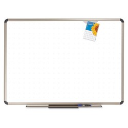 Acco Brands - P564T - Euro Frame Premium Porcelain Whiteboard, 48 x 36, Euro Titanium Aluminum Frame