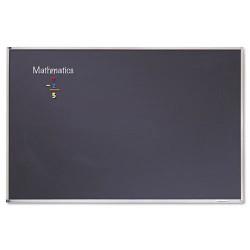 Acco Brands - PCA408B - Porcelain Black Chalkboard w/Aluminum Frame, 48 x 96, Silver