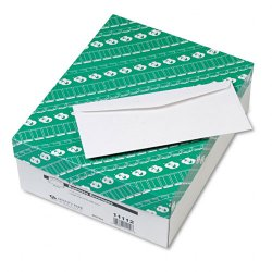 Quality Park - 11112 - Quality Park Traditional Business Envelopes - Business - #10 - 4 1/8 Width x 9 1/2 Length - 24 lb - Gummed - Wove - 500 / Box - White
