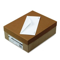 Quality Park - 11117 - Quality Park 24 lb. Recycled Business Envelopes - Business - #10 - 4 1/8 Width x 9 1/2 Length - 24 lb - Gummed - 500 / Box - Off White