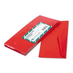 Quality Park - 11134 - Quality Park No. 10 Red Business Envelopes - Business - #10 - 9 1/2 Width x 4 1/8 Length - 60 lb - Gummed - 25 / Pack - Red
