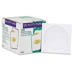 Quality Park - 62905 - Quality Park CD/DVD Sleeve - CD/DVD - 5 Width x 5 Length - 24 lb - Polypropylene - 250 / Box - White