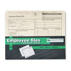 Quality Park - 69998 - Quality Park Top-tab Employee Record Folder - Letter - 8 1/2 x 11 Sheet Size - Top Tab Location - Manila - Cameo - 20 / Pack