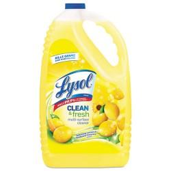 Reckitt Benckiser - 77617 - Lysol Clean/Fresh Lemon Cleaner - Liquid - 1.13 gal (144 fl oz) - Clean & Fresh Lemon Scent - 1 Each - Yellow