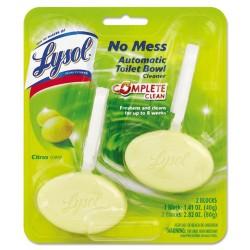 Reckitt Benckiser - 83723 - Lysol Toilet Bowl Cleaner Blocks - Block - 1.41 oz (0.09 lb) - Citrus Scent - 2 / Pack - Yellow