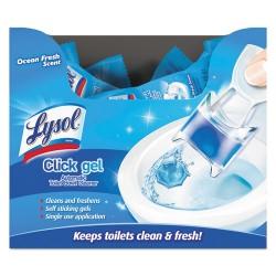 Reckitt Benckiser - 92921 - Lysol Click Gel Toilet Cleaner Packs - Gel - Ocean Fresh Scent - 18 / Carton - Light Blue