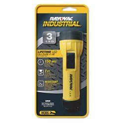 Rayovac - I2DLED-BC - Inudstrial 3 Led Flashlight With Batteries