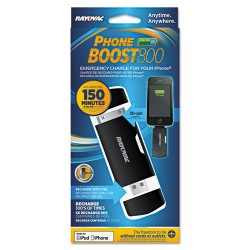Spectrum Brands - PS77 - Rayovac Mobile Battery Power Pack for Apple 30-Pin Phones - For iPhone, iPod, USB Device, Mobile Phone - Lithium Ion (Li-Ion) - 800 mAh - 1 A - 5 V DC Output - 1 x - Black