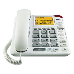 RCA - 1124-WTGA - 11241WTGA One-Line Amplified Big Button Corded Phone