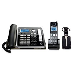 RCA - 25270RE3 - 2-Line Expandable Corded/Cordless Phone with Digital Answering System and Wireless Headset