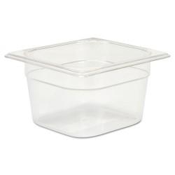 Rubbermaid - RCP 105P CLE - Cold Food Pans, 1 2/3qt, 6 3/8w x 6 7/8d x 4h, Clear
