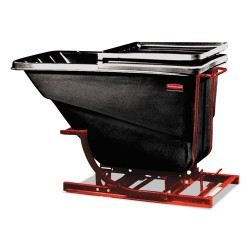 Rubbermaid - FG107400BLA - Self-Dumping Hopper, 2 1/2 Cubic Yard, 1000 lb Capacity, Black/Red