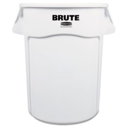 Rubbermaid - 1779740 - Brute Round Container, 44 gallon, White