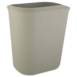 Rubbermaid - RCP 2541 GRA - Fire-Resistant Wastebasket, Rectangular, Fiberglass, 3.5gal, Gray