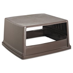 Rubbermaid - RCP 256V BRO - Glutton Receptacle, Hooded Top w/o Door, Rectangular, 23 x 26 5/8 x 13, Brown