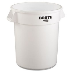 Rubbermaid - RCP 2620 WHI - Round Brute Container, Plastic, 20 gal, White