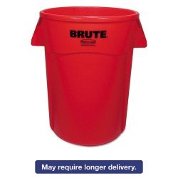 "Rubbermaid - FG264360RED - BRUTE® 44 gal. Round Open Top Trash Can, 31-1/2""H, Red"