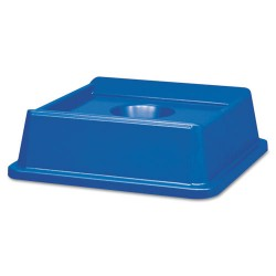 Rubbermaid - RCP 2791 BLU - Untouchable Bottle & Can Recycling Top, Square, 20 1/8 x 20 1/8 x 6 1/4, Blue