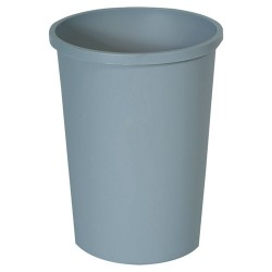 Rubbermaid - RCP 2947 GRA - Untouchable Waste Container, Round, Plastic, 11gal, Gray