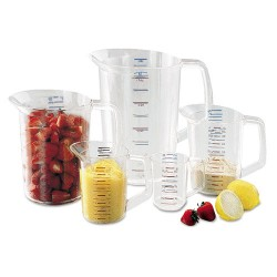 Rubbermaid - RCP 3210 CLE - Bouncer Measuring Cup, 8oz, Clear