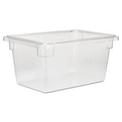 Rubbermaid - FG330400CLR - Food/Tote Boxes, 5gal, 12w x 18d x 9h, Clear