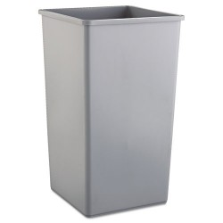 Rubbermaid - RCP 3959 GRA - Untouchable Waste Container, Square, Plastic, 50gal, Gray