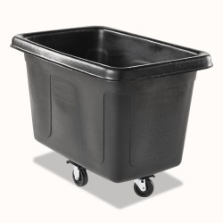 Rubbermaid - FG460800BLA - Cube Truck, Rectangular, 300-lb. Cap., Black