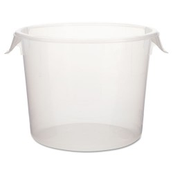 Rubbermaid - RCP 5723-24 CLE - Round Storage Containers, 6 qt, 10dia x 7 5/8h, Clear