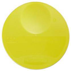 Rubbermaid - RCP 5725 YEL - Round Storage Container Lids, 10 1/4 dia x 1h, Yellow