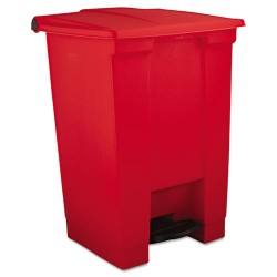 Rubbermaid - 6144-RED - 12-gal Step On Trash Container