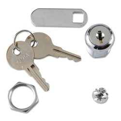 Rubbermaid - FG6181L20000 - Replacement Lock & Key for Locking Janitor Cart Cabinet