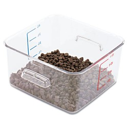Rubbermaid - RCP 6304 CLE - SpaceSaver Square Containers, 4qt, 8 4/5w x 8 3/4d x 4 3/4h, Clear