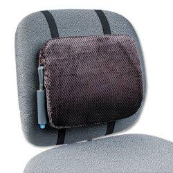 Rubbermaid - 8248 - Rubbermaid Adjustable Lumbar Backrest - Washable, Hook & Loop - Hook Mount - 12.9 x 2.8 x 10.8 - Gray, Black