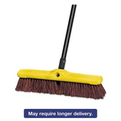 "Rubbermaid - 9B16 - 18"" Heavy Duty Floor Sweep Plastic Block Palmyra"