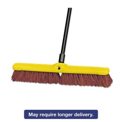 "Rubbermaid - RCP 9B18 BRO - Heavy Duty Floor Sweep, 24"" x 3"", Brown, Polypropylene"