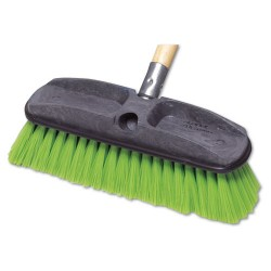 "Rubbermaid - FG9B7200GRN - Synthetic-Fill Wash Brush, 10"" Yellow Plastic Block"