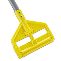Rubbermaid - FGH145000000 - Invader Fiberglass Side-Gate Wet-Mop Handle, 1 dia x 54, Gray/Yellow