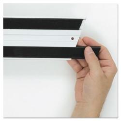 Rubbermaid - FGQ18000BK00 - Hook & Loop Replacement Strips, 1 1/10w x 18l, Black
