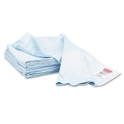 Rubbermaid - Q630CT - Rubbermaid Nonabrasive General Purpose Glass Cloth - Blue - MicroFiber - Absorbent, Non-abrasive - For Glass Cleaning - 12 / Carton