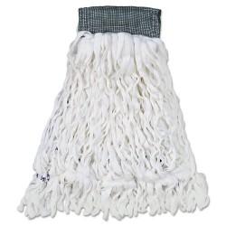 Rubbermaid - RCP T300 - Clean Room Mop Head, Rayon, Loop-End, Medium, White, 12/Carton