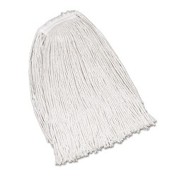 "Rubbermaid - FGV41900WH00 - Economy Cotton Mop Heads, Cut-End, White, 32oz, 1"" White Headband, 1 Dozen"