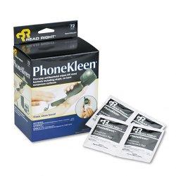 Read Right - RR1303 - PhoneKleen Wet Wipes, Cloth, 5 x 5, 72/Box