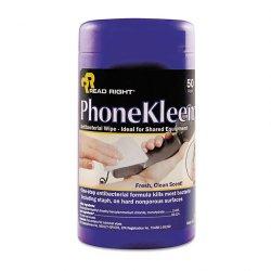 Read Right - RR1403 - PhoneKleen Wet Wipes, Cloth, 5 x 6, 50/Tub