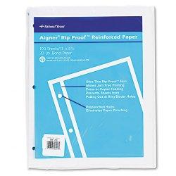 Rediform - 20121 - Rip Proof 20-lb, Reinforced Filler Paper, Unruled, 11 x 8-1/2, WE, 100 Sheets/Pk