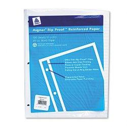 Rediform - 20122 - Rip Proof Reinforced Filler Paper, Ruled, 20 lb, Letter, White, 100 Sheets/PK