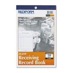 Rediform - 2L259 - Rediform Receiving Record Book (Each)