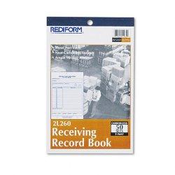 Rediform - 2L260 - Rediform Receiving Record Book (Each)